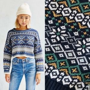 BDG // UO Anna Cropped Sweater M